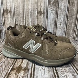 New Balance 608 brown suede athletic shoes/ sneakers - size 7 2E